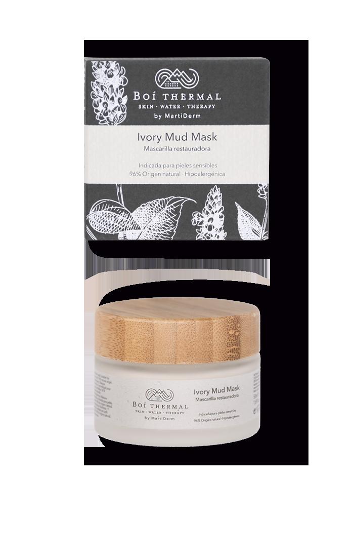 Ivory Mud Mask (mascarilla facial vegana, hipoalergénica y apta para pieles sensibles)